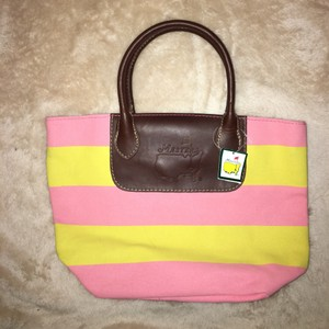 Masters Collection Golf Tote in Yellow, pink, brown leather