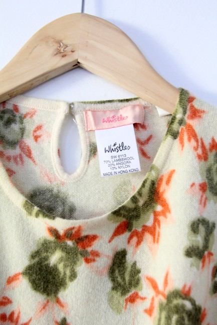 Whistles Camisole Lambswool Angora Floral Sweater