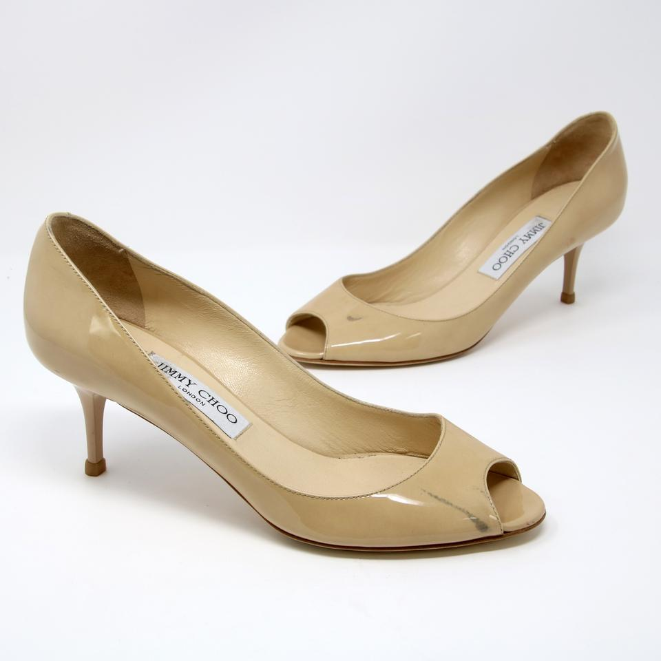 8e9f7620678 Jimmy Choo Chanel Gucci Louis Vuitton Valentino Studded Beige Pumps Image 0  ...