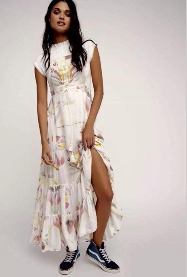 b6655af1063a2 Free People Watercolor Swing Jumper Maxi Cocktail Dress. Size  8 (M) ...