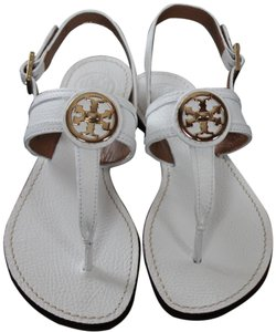 Tory Burch WHITE 100 Sandals