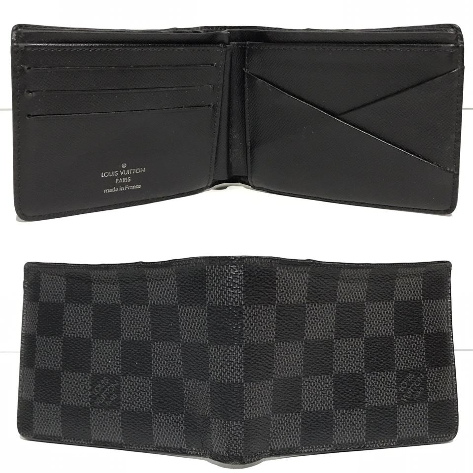 305b17cb9cc7 Louis Vuitton Damier Graphite Canvas Mens Multiple N62663 Wallet ...