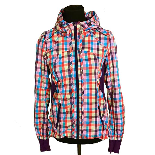 Item - Purple Pink Blue Green Sea Wheeze Run Downtime Jacket Size 4 (S)