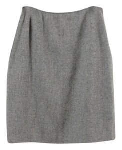 Oscar de la Renta Cashmere Pencil Skirt Gray
