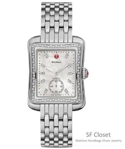 Michele Nwt Deco Mordern II Diamond Diamond Dial watch