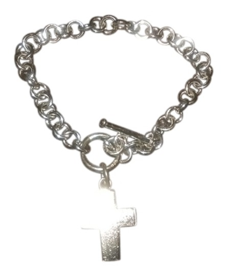 Argento Vivo Silver bracelet with a cross charm