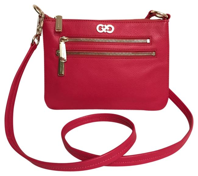 Item - Convertible Pink Gold Leather Cross Body Bag