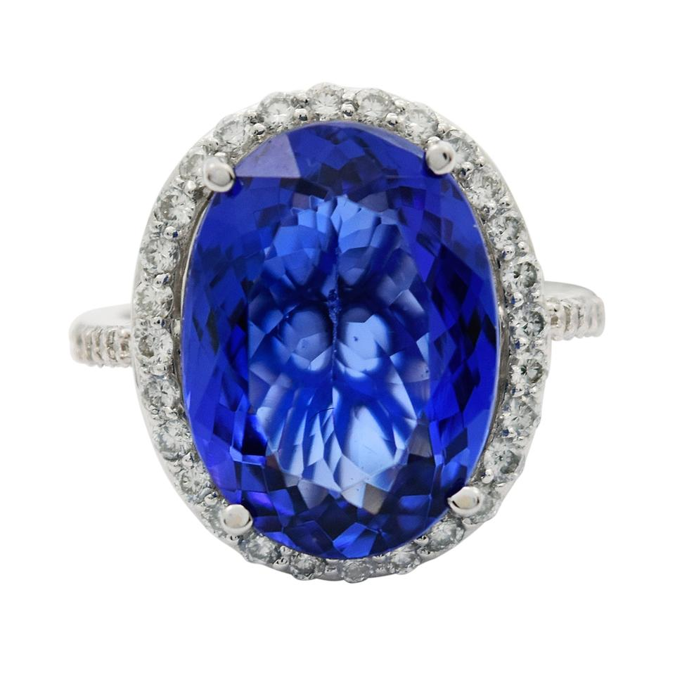 diamonds tanzanite royal certified ring natural blue products halo gia