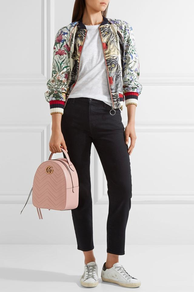 Gucci Marmont - Gg Quilted Pink Leather Backpack - Tradesy e3dab45ce873f
