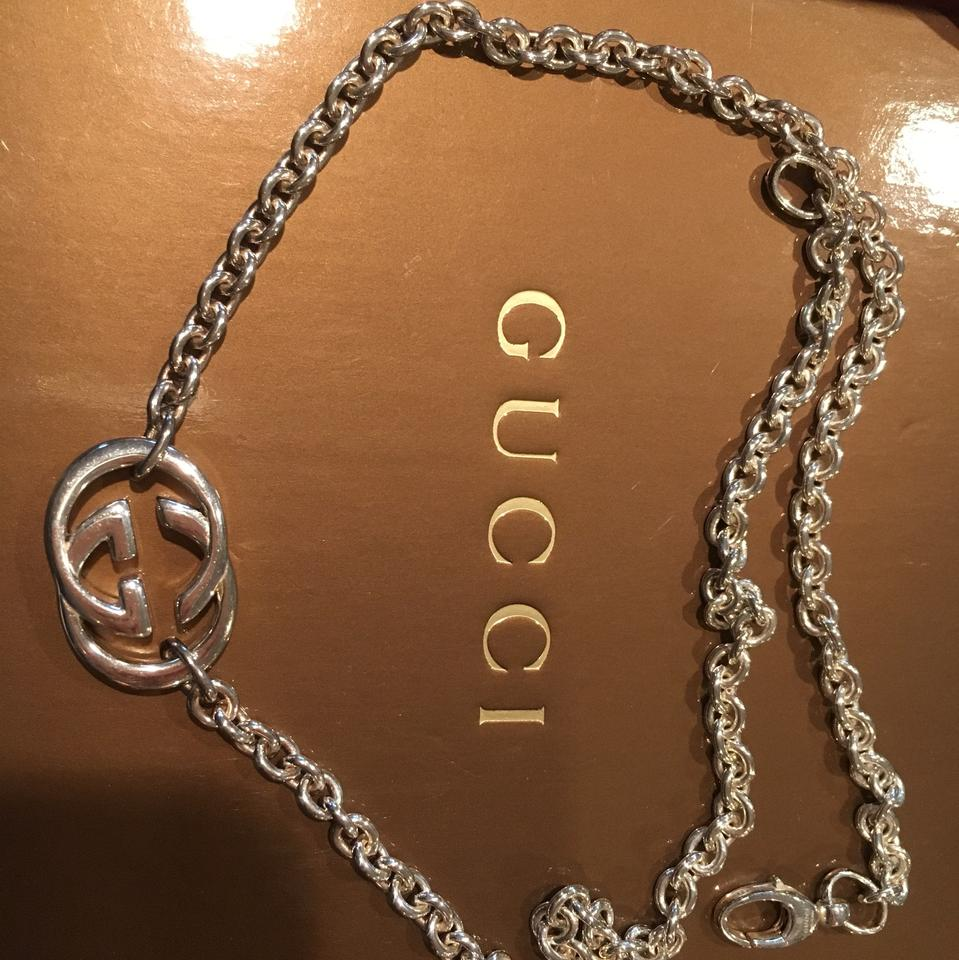 6eeaedfc055 Gucci Sterling Silver Interlocking G Pendant Necklace - Tradesy