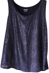 Apt. 9 Sparkle Sleeveless Rayon Lined Rayon/Polyester Top Black Sequin