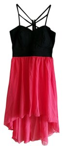 Trixxi short dress Black / Coral on Tradesy