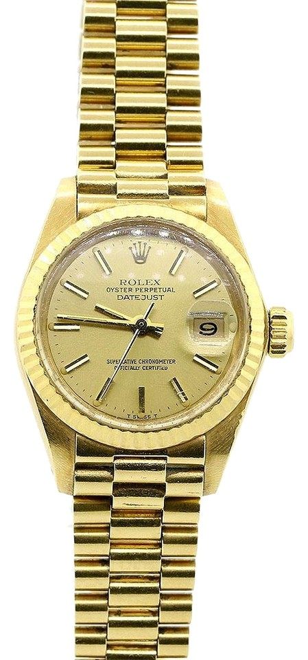 f9b35514932 Rolex Rolex Datejust President 18K Yellow Gold 26MM Automatic Watch Image 0  ...