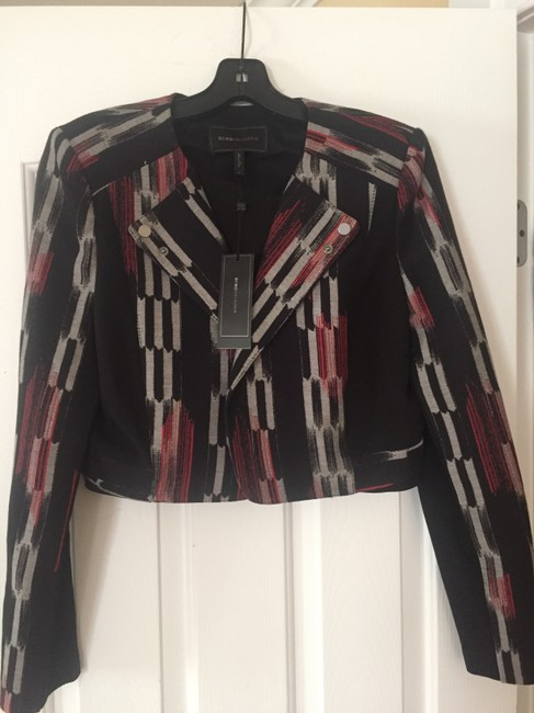 Item - Red and Black and Silver Grey Nathan Jacket Size 10 (M)