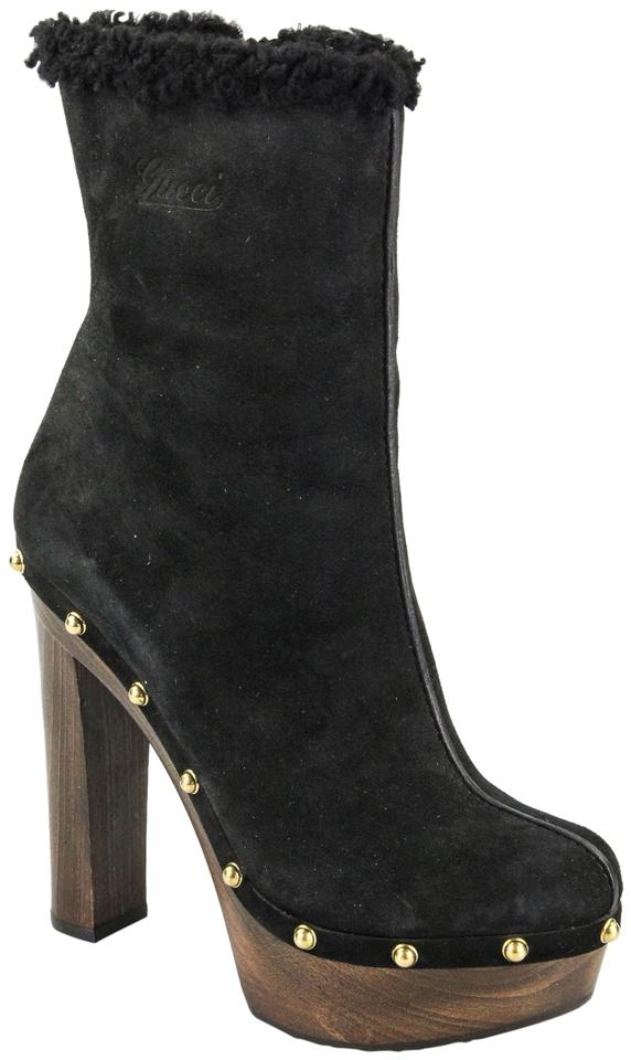 dc90c74ff Gucci Black Joplin Suede Mid-calf Boots/Booties Size US 6 Regular (M ...