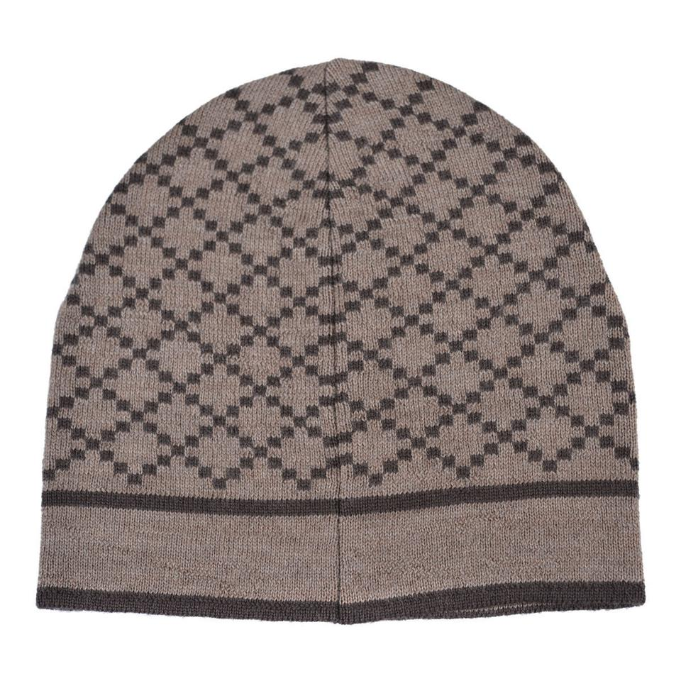5ee359b39d4 Gucci Beige Brown Unisex Multi-color Wool Beanie One Size Hat - Tradesy