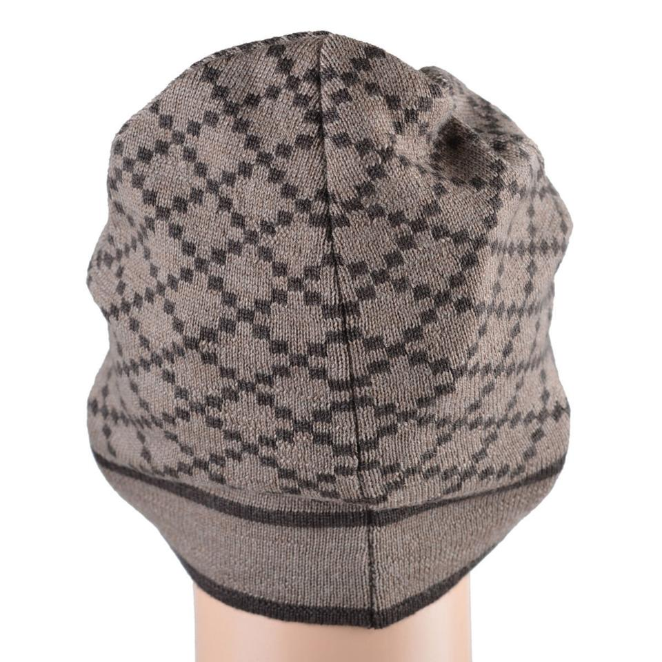 d5b2ae1bc05cd Gucci Beige Brown Unisex Multi-color Wool Beanie One Size Hat - Tradesy