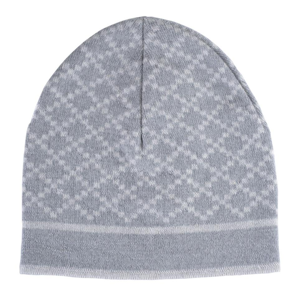 84143b35b Gucci Gray/White Unisex Multi-color Wool Beanie One Size Hat 35% off retail