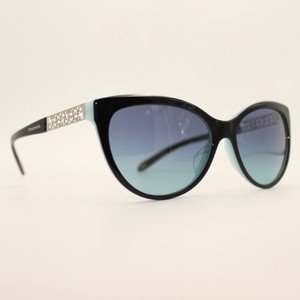 43d1b588ec85 Tiffany   Co. Cat Eye Black Blue Silver Sunglasses 4119-f 8055 9s