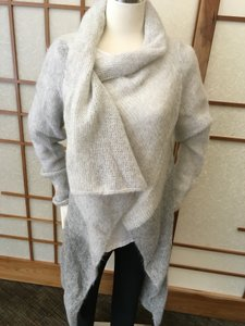 Sarah Pacini Duster Tunic Sweater Outerwear Soft Cardigan