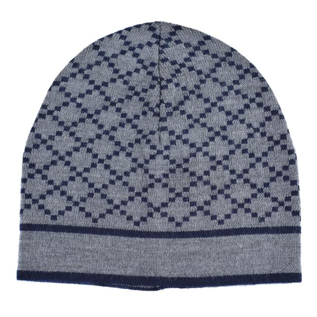 Item - Gray/Blue Unisex Multi-color Wool Beanie One Size Hat