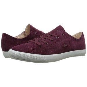 Lacoste Suede Fall Sneakers Low Sneaker burgundy Athletic
