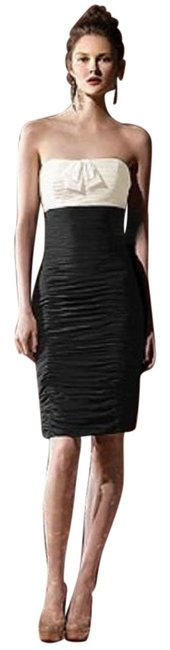 Item - Ivory/Black 8107 Short Night Out Dress Size 10 (M)