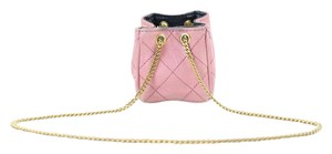 Chanel Cc Quilted Nano Quilted Cc Nano Mini Pink Clutch
