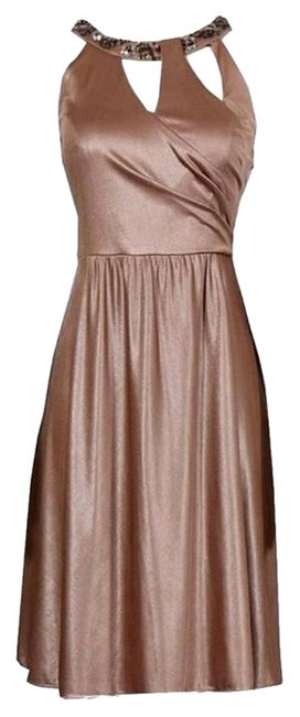 Preload https://item3.tradesy.com/images/adrianna-papell-dress-gold-copper-2233562-0-0.jpg?width=400&height=650