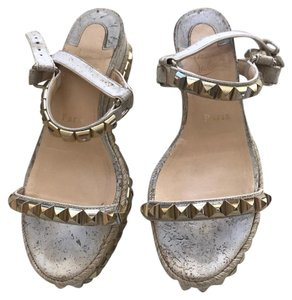 Christian Louboutin Cream with stones. Sandals