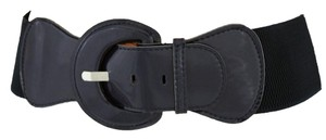Alwaystyle4you Women Classic Belt Dark Navy Blue Adjustable Round Buckle Plus Size