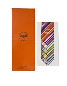 Hermès Hermes Set of Six Men's Tie Booklets with Shopping Bag