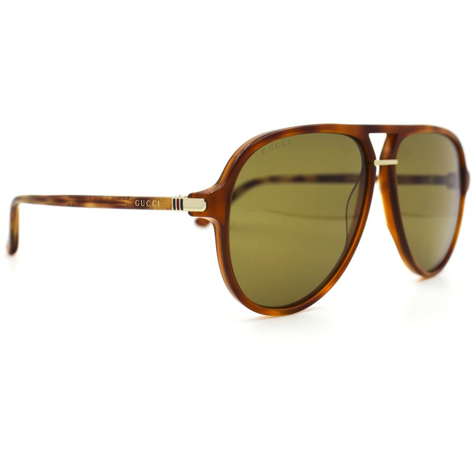 520c8ab93a363 Gucci Tortoise and Brown Aviator Acetate Light Lenses Gg0015s ...