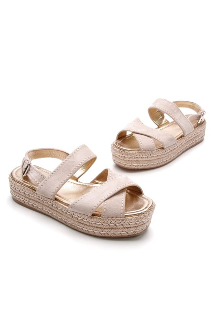 Item - Beige Suede Crisscross Espadrille Sandals Platforms Size EU 40 (Approx. US 10) Narrow (Aa, N)