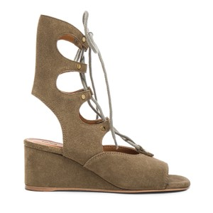 Chlo Dark Green Wedges