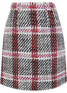 Carven Mini Skirt Multi-color tartan