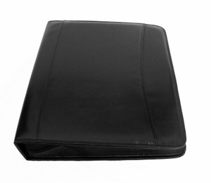 Franklin Covey Planner Black Simulated Leather Zipper Classic Binder Offset Rings