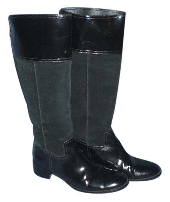 Item - Black Bcbg Max Azria Genuine Suede/Leather Knee High Zipper Boots/Booties Size US 8 Regular (M, B)