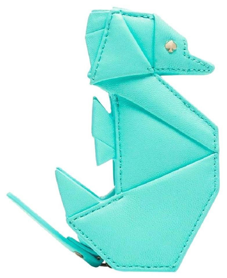 Kate Spade Atoll Blue Origami Seahorse Leather Coin Purse Breath Of