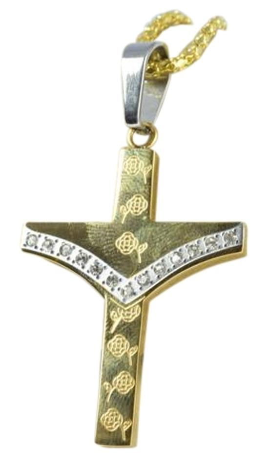Gold filled stainless steel and silver religious cross pendants lbds stainless steel gold and silverreligious cross pendantsfloral aloadofball Images