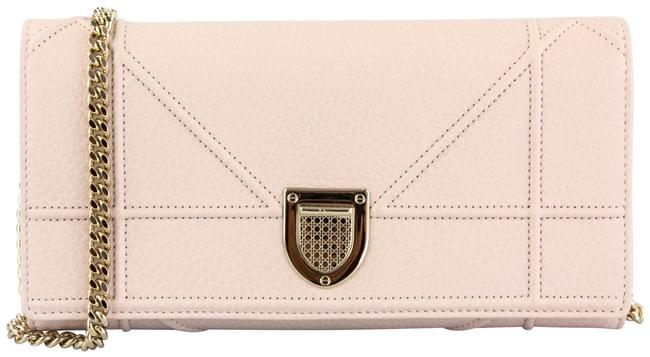 Item - Wallet on Chain ama Light Pink Leather Cross Body Bag