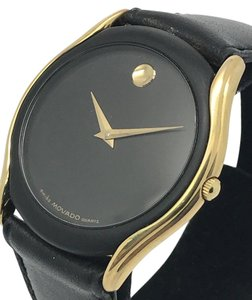 Movado Movado Museum Vintage Swiss Gold Tone Case Women's Watch 88-64-860N