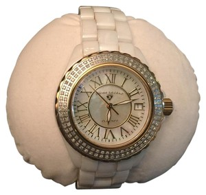 Swiss Legend White Mother of Pearl with Diamonds and Ceramic Watch