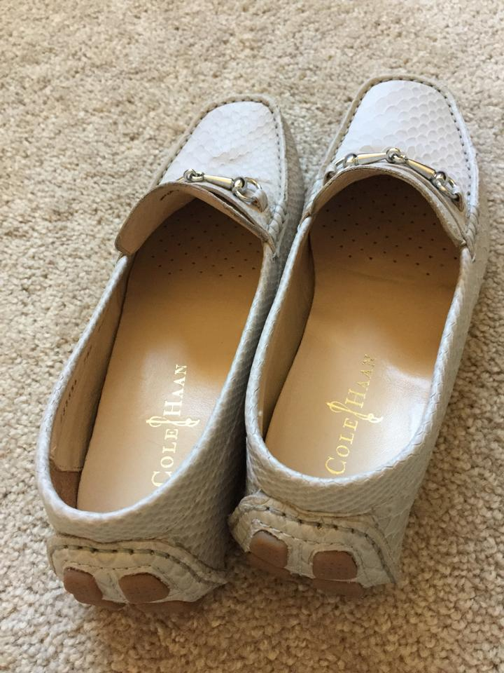 459a035fb9f Cole Haan Beige-snake Skin Leather Driving Loafers Moccasins Flats ...