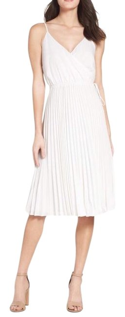 Item - White Lily Pond Fit and Flare Mid-length Cocktail Dress Size 12 (L)