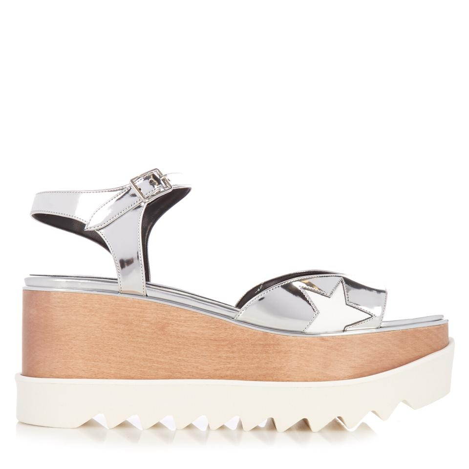 e7010f74380b Stella McCartney Silver New W  Tag 2017 Elyse Star Metallic Platform Sandal  Wedges