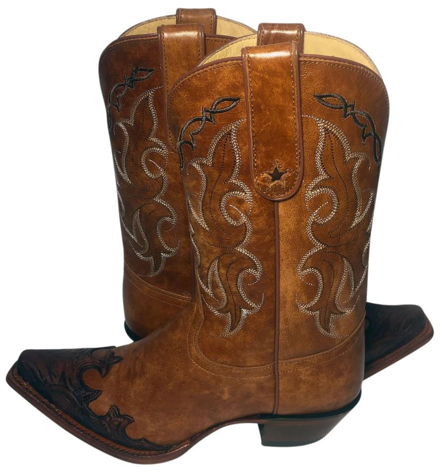 302534dc0fe Tony Lama Brown Vf6003 Dasah Leather Cowgirl Women's Boots/Booties Size US  8 Regular (M, B) 9% off retail