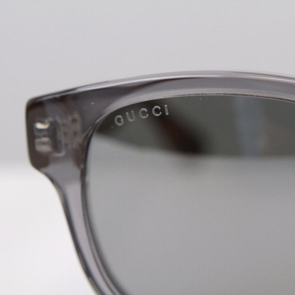 03d79597178 Gucci Grey Silver 52mm Wayfarer Sunglasses - Tradesy