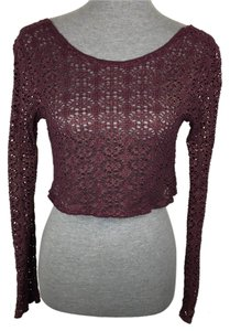 Free People Top Purple, Gold