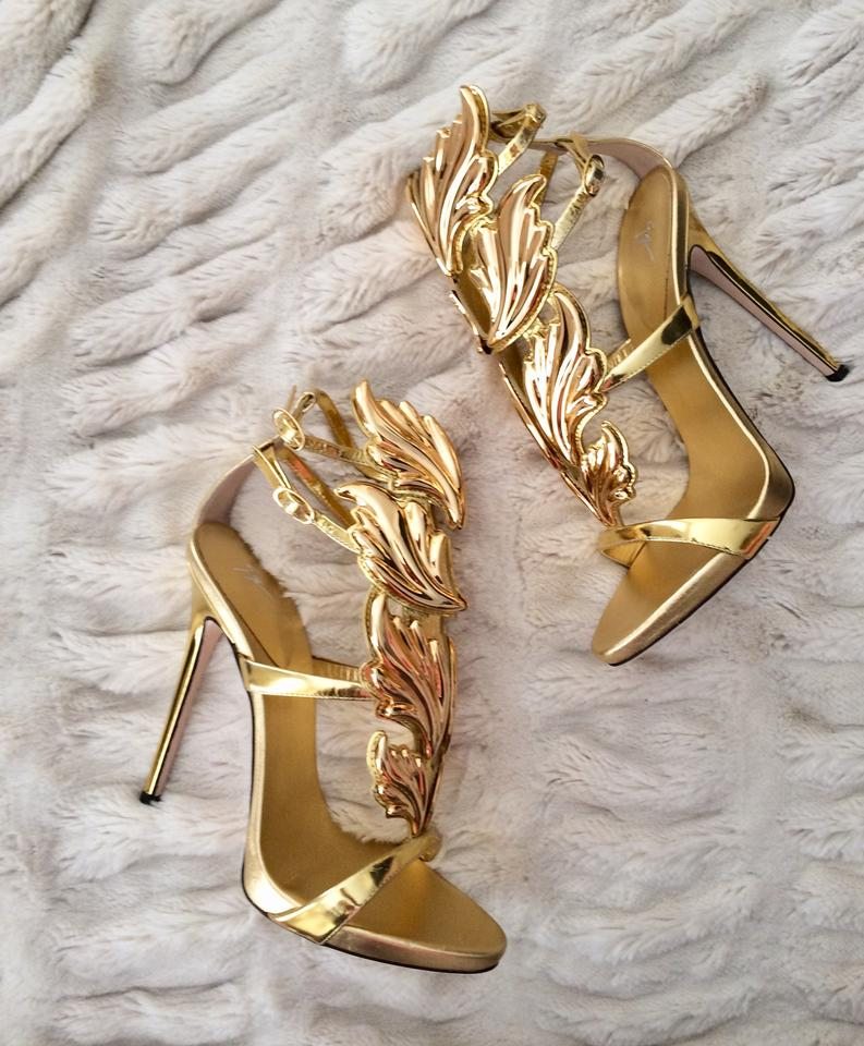 Gold Winged Shoes For Sale